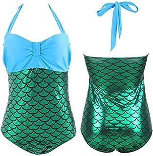 Bikini Mermaid Stitching Color one-Piece Swimsuit
