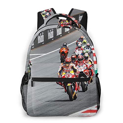 Mochila Tipo Casual Mochila Escolares Mochilas Estilo Impermeable para Viaje De Ordenador Portátil hasta 14 Pulgadas Moto GP Super Bikes Motocicleta
