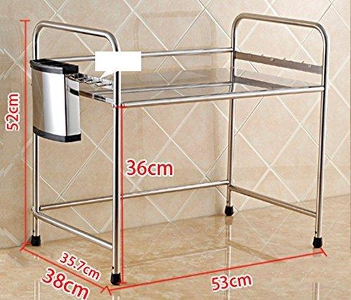 ILQ Le four à micro-ondes étagères des étagères de stockage monocouche étagères de support de soute étagères étagères de cuisine,BB
