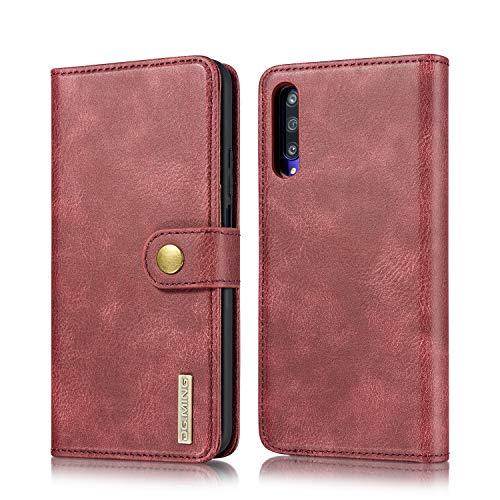 xinyunew Schutzhülle Huawei Honor 9X/9X Pro Hülle Phone Hülle 2 in 1 Lederhülle Rot Echtleder Hülle Leder Tasche Flip Cover für Original Huawei Honor 9X/9X Pro - Wallet Hülle