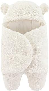 جديد حقيبة الساق التفاف الكرتون الطفل رومبير الرضع الخريف الشتاء سماكة الكشمير كان (Color : Ivory, Size : 9M)