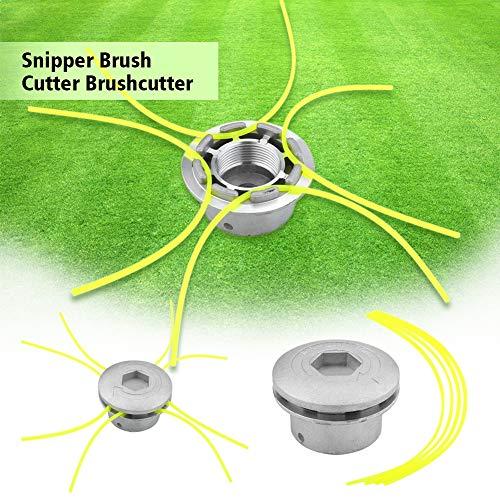 SOONHUA Universal Aluminium Strimmer Head, Trimmer Heads String Set Grass Brush Cutter Accessory Power Tools for Garden Lawn Patio Mower