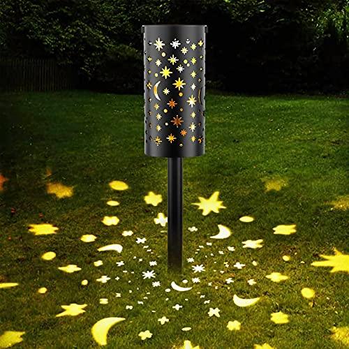 Solar Laterne für Außen, Garten Solar Gartenleuchte Hängend Solarlampen, LED Stake Dekorative Gartenfahlständer Solarleuchte, IP65 Wasserdicht Solarlampe für Außen/Garten/Terrasse Dekorative