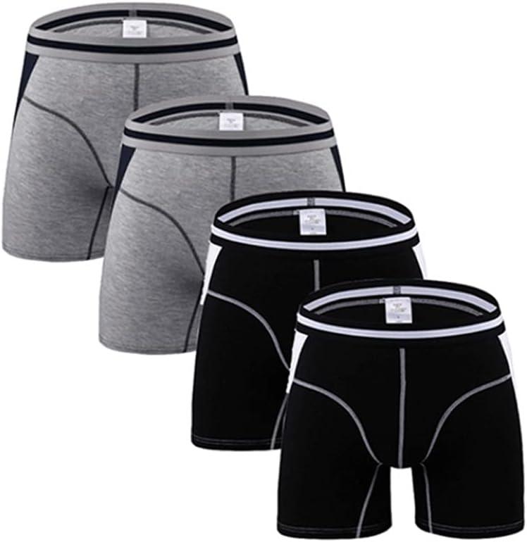 SSMDYLYM Long Leg Mens Boxers Shorts Male Panties Slip Underpants U-Convex Man Underwear (Color : Multicolor 2, Size : XL Code)