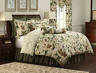 Royal Heritage Home Williamsburg Garden Images Queen Size Comforter Set, 9 Piece