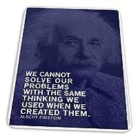 マウスパッド ゲーミングマウスパッド-同じ思考のアルバート・アインシュタインの引用符で問題を解決することはできません滑り止め デスクマット 水洗い 25x30cm