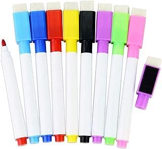 Ogquaton Bol/ígrafo para Pizarra Blanca Rotulador magn/ético para Pizarra Blanca Rotulador con Borrador Incorporado 8 Piezas rentable