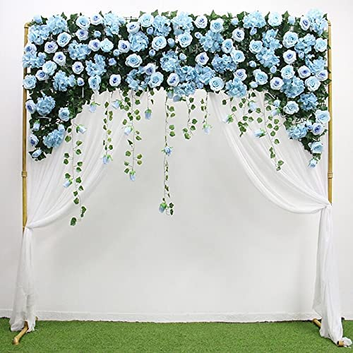 ARGYJAE Customize Curtain Flower Row Mix Rose Detroit Louisville-Jefferson County Mall Mall Artificial Leaves