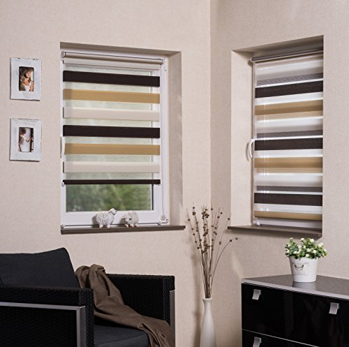 Vidella Duo - Tenda avvolgibile a rullo, 3 colori, trasparente, Klemmfix laterale, oscurante, per finestre, da 45 x 160 a 98 x 160 (69 x 210) ZTC1