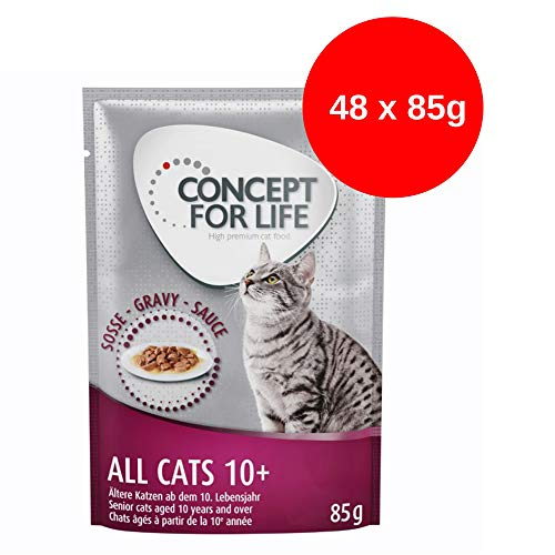 Concept for Life All Cats 10+ - in Soße (48 x 85g)