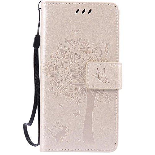 HUANGTAOLI Custodia in Pelle Portafoglio Flip Case Cover per Huawei Y3 II