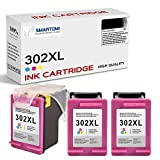 SMARTOMI Remanufacturados Cartuchos De Tinta 302XL Compatibles con HP 302 302XL,para HP DeskJet 1110 2130 3630 1112 2132 2134 2136 Envy 4520 4510 4512 OfficeJet 3830 4650 4655 Impresoras (3 Color)