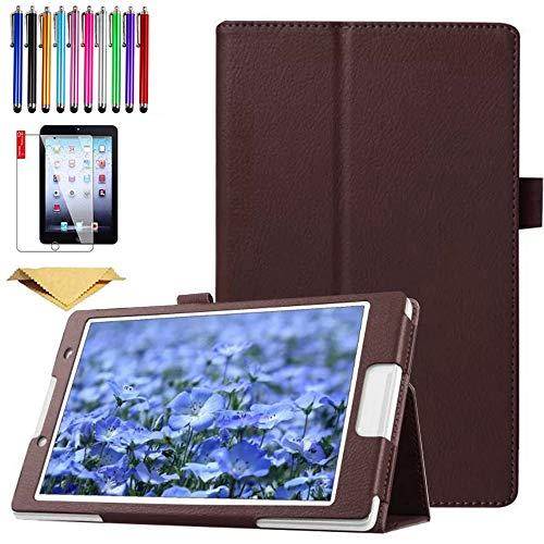 SsHhUu Funda para Galaxy Tab S7 Plus 12.4 Pulgadas SM-T970/T975/T976, Cubierta Protectora de PU Cuero Soporte con Protector de Pantalla para Galaxy Tab S7 Plus 12.4-Pulgadas 2020, Negro