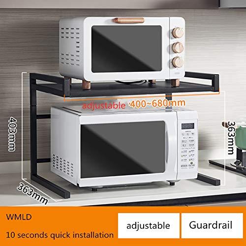 WWDS Teleskop Küche-Rack,mikrowellenregal,2 Schichten Boden Multi-funktions Reis Kocher Ofen Lagerung Home-r