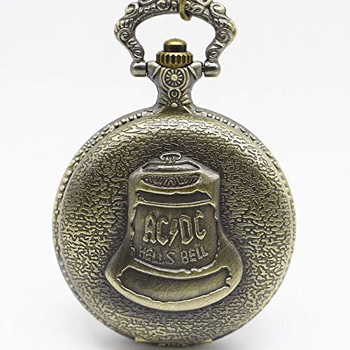 Reloj de bolsillo de bronce con diseño vintage de cuarzo y colgante para hombres y niños, regalo de China