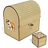 Azeeda 'Bulldog Inglés' Grande Cofre del Tesoro/Joyero (TC00032563)
