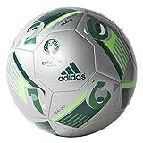 Adidas - Pallone Da Calcio Euro 16 Glider - Argento Metallic/Verde/Solar Verde, Taglia 5
