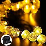 Ibello - Guirnalda luminosa solar de 6 metros y 30 bolas LED impermeables con...