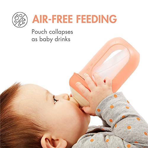Boon NURSH Reusable Silicone Pouch Bottles, 4 Ounce (Pack of 3)