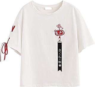 d3a074b561a64 T-Shirt Femme Comic Hot Dog Tops en Coton pour Femme