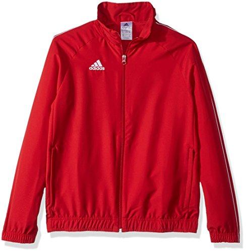 adidas Juniors' Core 18 Soccer Presentation Jacket, Power Red/White, Medium