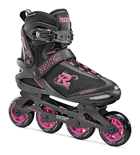 Roces Damen PIC Inline Skates, Black/Rhodamine Red, 37