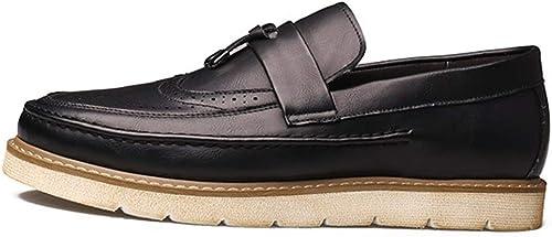 Henxizucun Chaussures Bateau pour Chaussures de Conduite en Cuir Cuir Cuir Souple à Semelle Souple pour Hommes b2e