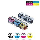 DOREE 20 XL Compatibili LC-12E Cartucce d'inchiostro per Brother MFC-J6925DW - Nero Ciano Magenta Giallo, Alta Capacità 5 Nero 5Ciano 5 Magenta 5 Giallo