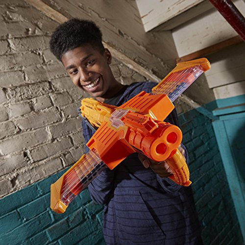 Double Dealer Nerf Doomlands Toy Blaster with Two 12-Dart Clips & 24 Official Elite Darts (Amazon Exclusive)