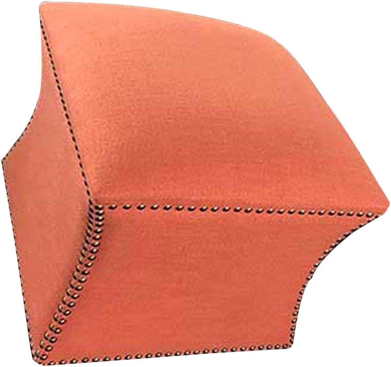 gran selección y entrega rápida QQXX Reposapiés Marco de Madera Maciza Maciza Maciza Multiusos Paño de algodón Conjunto Completo Estilo Europeo Simple, 5 Colors (Color  Naranja, Tamaño  47x47x44cm)  mejor precio