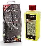 LotusGrill - Saco de carbón vegetal de haya de 2,5 kg, incluye pasta combustible LotusGrill de 500...