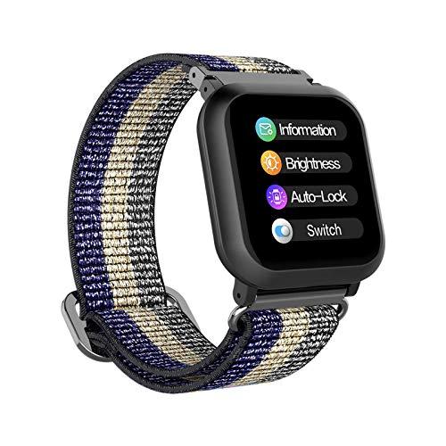 BIGCHINAMALL Relojes Inteligentes Mujer Smartwatch (Azul/Blanco)