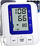 COOCEER Blood Pressure Monitor,Largest Digital Display with 2 Users,240 Memory,Automatic Heart Rate Pulse Monitor with Cuff 22-40CM Home Use Care Device [2020 Upgrade]