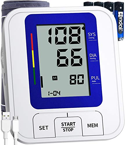 COOCEER Blood Pressure Monitor,Largest Digital Display with 2 Users,240 Memory,Automatic Heart Rate Pulse Monitor with Cuff 22-40CM Home Use Care Device [2020 Upgrade] Accessories Muscle Stimulators