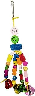 Suministros para Mascotas Color Aleatorio Astrryfarion Juguete Divertido para Loros Estrellas de Madera Bolas de rat/án Cuerda Mascota p/ájaro cacat/úa Loro Juguete para Masticar