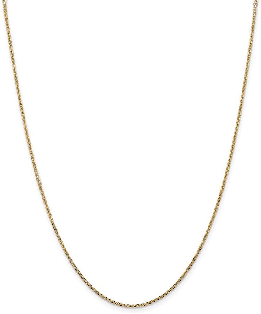 14k Yellow Spring new work Gold 1.3mm Solid San Francisco Mall Chain Cable Diamond-Cut Necklace