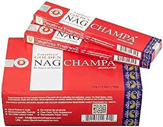 Pamai Pai® 180g Golden Nag Champa Rojo–Precio Base: 6,66€/100g–Varillas de Incienso Incienso