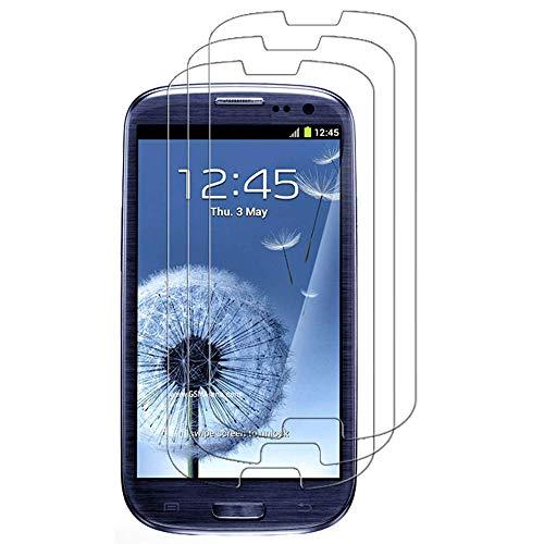 iGlobalmarket [3 Unidades] Protector de Pantalla Samsung Galaxy S3 / S3 Neo, Vidrio Templado, sin Burbujas, Alta Definicion, 9H Dureza, Resistente a Arañazos