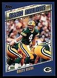 2000 Topps # 324 Highlights Brett Favre Green Bay...