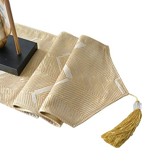 Tafelloper Geel Modern Eenvoud Dineren Koffie Tapestry Doek met Tassel for Wedding Party Home Decorations Tafelkleed-4.13 (Size : 30 * 160cm)