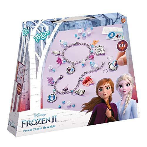 Disney Frozen II Bettelarmbänder-Set: Bastle Deine eigenen Frozen II Kettenarmbänder mit silberfarbenen Blättchen, schönen Perlen und Aufklebern von Anna und Elsa