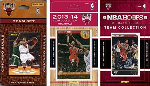 C & I Collectables NBA Chicago Bulls 3 Verschiedene Lizenz-Sammelkarten, Braun, Einheitsgröße