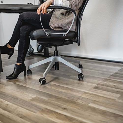 Profolio   Bodenschutzfolie transparent zum aufkleben   Premium Qualität für Hartböden   Bodenschutzmatte als Bürostuhlunterlage uvm.   Made in Germany   Größe wählbar   30 x 110 cm