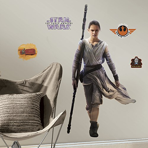 RoomMates Wandtattoo 46x 13x 2,3cm, Riesen-Motiv: Rey aus Star Wars Episode VII