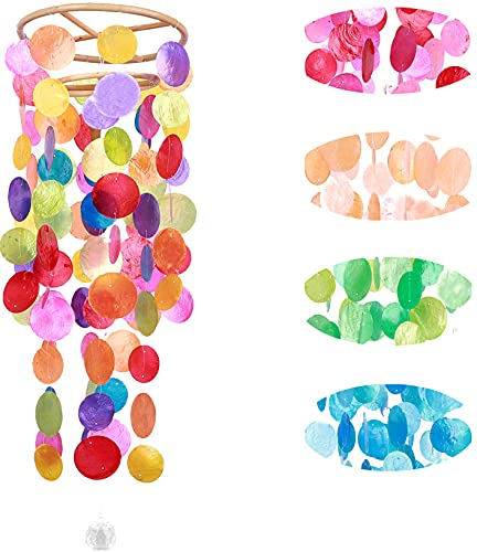 Rainbow Colored Shell Wind Chimes
