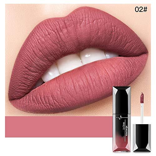 BHUJYG 21 Farben Matt Lip Gloss Lip Tint Batom Lipgloss Flüssigkeit Lippenstift Wasserdicht...