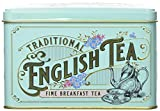 New English Teas Vintage Victorian Tea Tin with 40 English Breakfast teabags