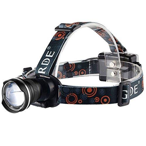 GRDE LED fiets koplamp 1800 lumen zoomable koplamp voor mountainbiken, randonne, jacht hond nacht