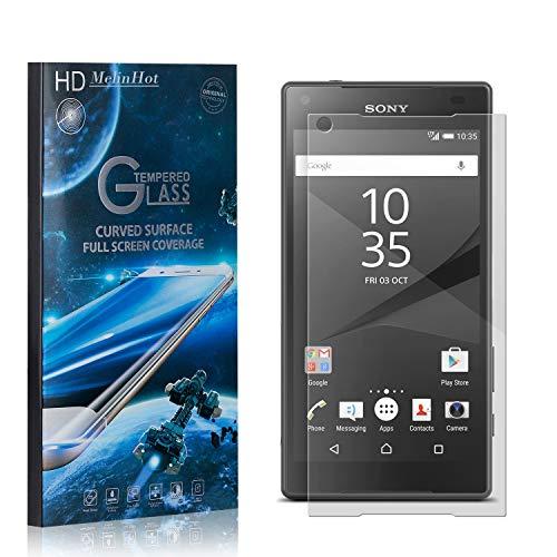 MelinHot Displayschutzfolie für Sony Xperia Z5 Compact, 99% Transparenz Schutzfilm aus Gehärtetem Glas, 9H Härte, Keine Luftblasen, 3D Touch, 4 Stück