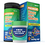 (Free Testing Cup and 150 Urine Strips) |Urinary Tract Infection (UTI) Test Kit | Test Women, Men and Pets | Leukocytes, Nitrites and pH | Home Early Detection for Better Kidney and Bladder Health
